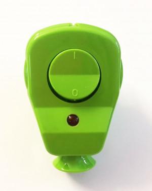 Schuko Winkelstecker mit Schalter und Diode grün