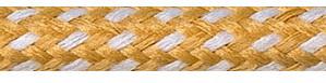 Textilkabel Nugat-Weiß Gepunktet