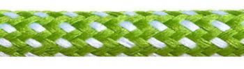 Textilkabel Grün-Weiß Gepunktet