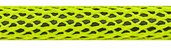 Textilkabel Neon Gelb/Schwarz Netzartiger Textilmantel