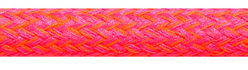 Textilkabel Neonpink-Orange