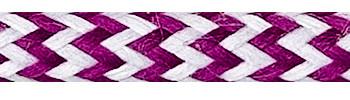 Textilkabel Weiß-Kirschrot Zick Zack