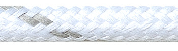 Textilkabel Weiß-Grau Gestreift