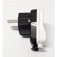 Schuko Plug Black/White