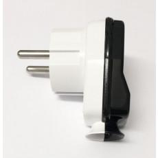 Schuko Plug White/Black