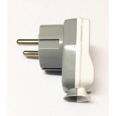 Schuko Plug Grey/White