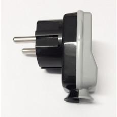 Schuko Plug Black/Grey