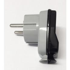 Schuko Plug Grey/Black