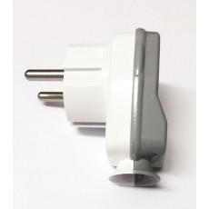Schuko Plug White/Grey